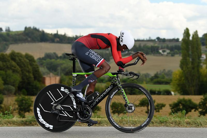 IMOLA ITALY SEPTEMBER 24 Teniel Campbell of Trinidad And Tobago during the 93rd UCI Road World Championships 2020 Women Elite Individual Time Trial a 317km stage from Imola to Imola ITT ImolaEr2020 Imola2020 on September 24 2020 in Imola Italy Photo by Tim de WaeleGetty Images