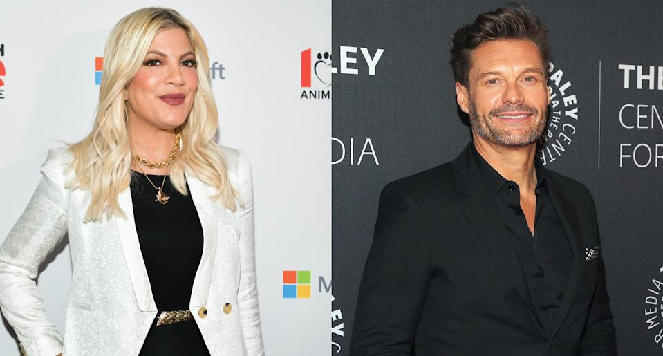 Tori Spelling wishes she slept with Ryan Seacrest when he appeared on 90210.