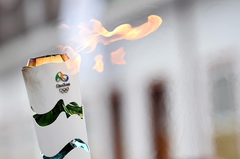 The Olympic torch arrives in Ouro Preto historic city of Minas Gerais, Brazil on May 13, 2016