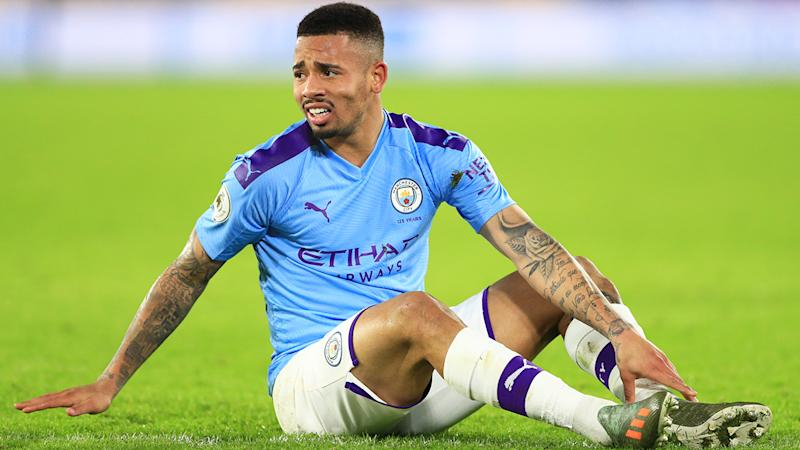 Manchester City and Gabriel Jesus will await a hearing at the Court of Arbitration for Sport after being banned from the Champions League for two years by UEFA. (Photo by Matt McNulty - Manchester City/Manchester City FC via Getty Images)