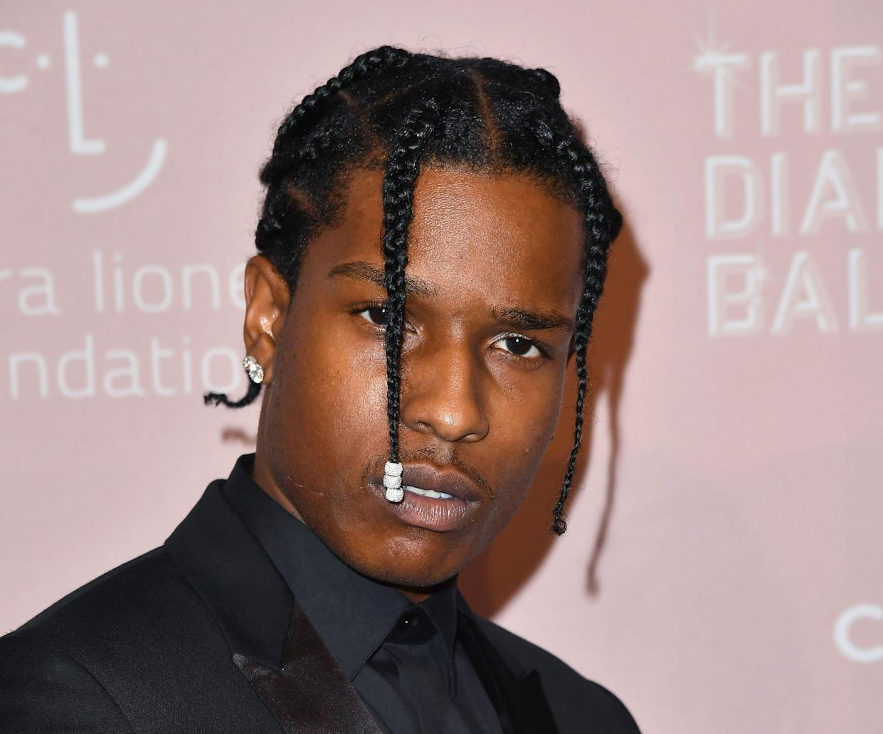 In this 2018 file photo, A$AP Rocky, who has been tried on assault charges in Sweden, attends Rihanna's 4th Annual Diamond Ball at Cipriani Wall Street in New York City.