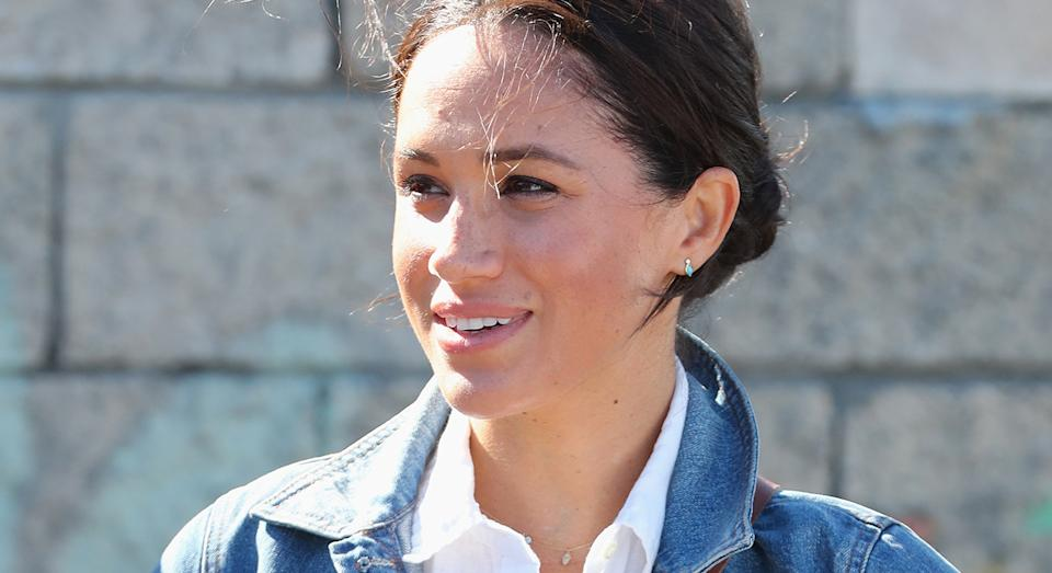 meghan markle and prince harry coordinate in double denim meghan markle and prince harry