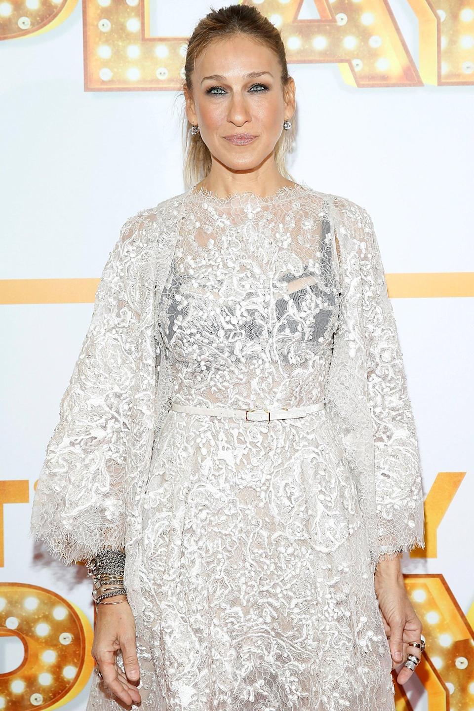 """<p><a class=""""link rapid-noclick-resp"""" href=""""https://www.popsugar.co.uk/Sarah-Jessica-Parker"""" rel=""""nofollow noopener"""" target=""""_blank"""" data-ylk=""""slk:Sarah Jessica Parker"""">Sarah Jessica Parker</a> found her career-changing role in 1998, when she first portrayed Carrie Bradshaw on <strong><a class=""""link rapid-noclick-resp"""" href=""""https://www.popsugar.co.uk/Sex-and-the-City"""" rel=""""nofollow noopener"""" target=""""_blank"""" data-ylk=""""slk:Sex and the City"""">Sex and the City</a></strong>. Thanks to her HBO show <strong>Divorce</strong> and films like <strong>Failure to Launch</strong> and <strong>Did You Hear About the Morgans?</strong>, she's cemented her star status, in addition to being one of New York's most recognizable fashion icons. The actress also has an eponymous line of fragrances, accessories, and Italian-made footwear. Most recently, she's reprised her role as Carrie for the <strong>Sex and the City</strong> reboot, <a href=""""https://www.popsugar.com/latest/And-Just-Like-That"""" class=""""link rapid-noclick-resp"""" rel=""""nofollow noopener"""" target=""""_blank"""" data-ylk=""""slk:And Just Like That""""><b>And Just Like That</b></a>.</p>"""