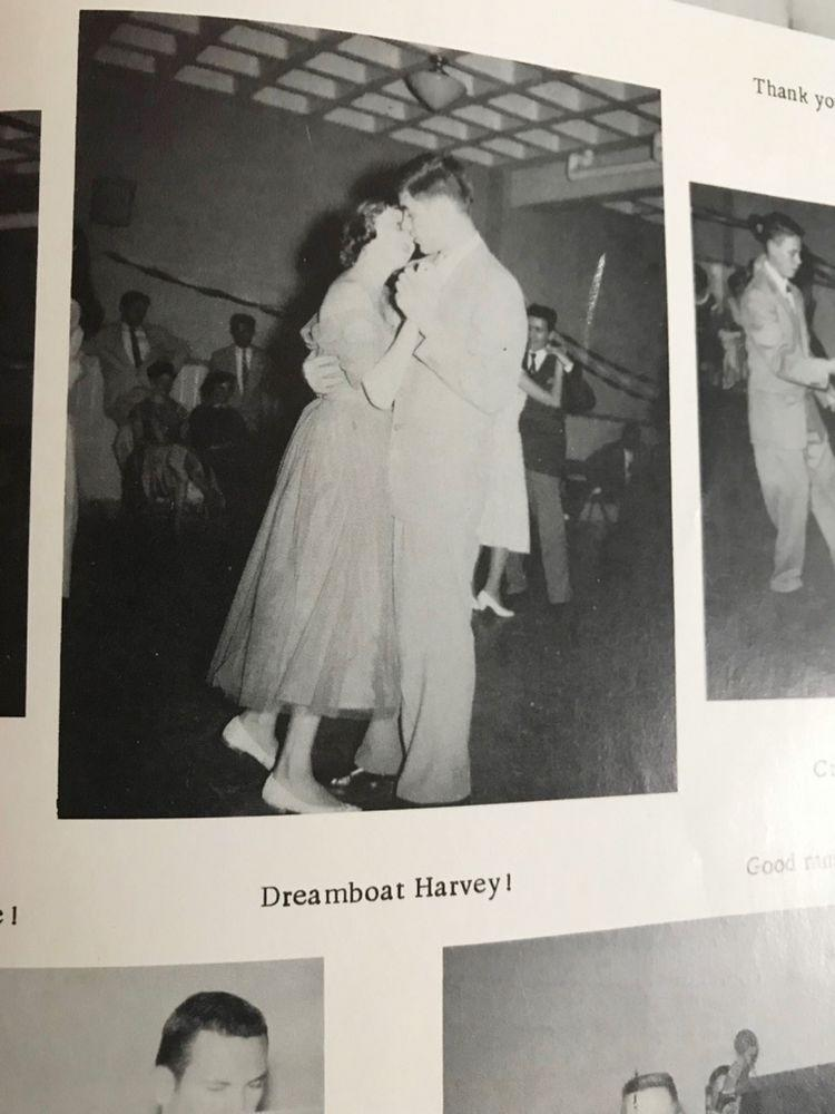 Annette Callahan and Bob Harvey in their high school yearbook   Annette Callahan