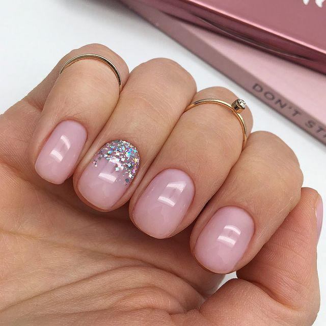 """<p>A clean, nude pink manicure for people who prefer to keep things simple, or people who hate removing glitter polish.</p><p><a href=""""https://www.instagram.com/p/Bx5WThAC8WH/"""" rel=""""nofollow noopener"""" target=""""_blank"""" data-ylk=""""slk:See the original post on Instagram"""" class=""""link rapid-noclick-resp"""">See the original post on Instagram</a></p>"""
