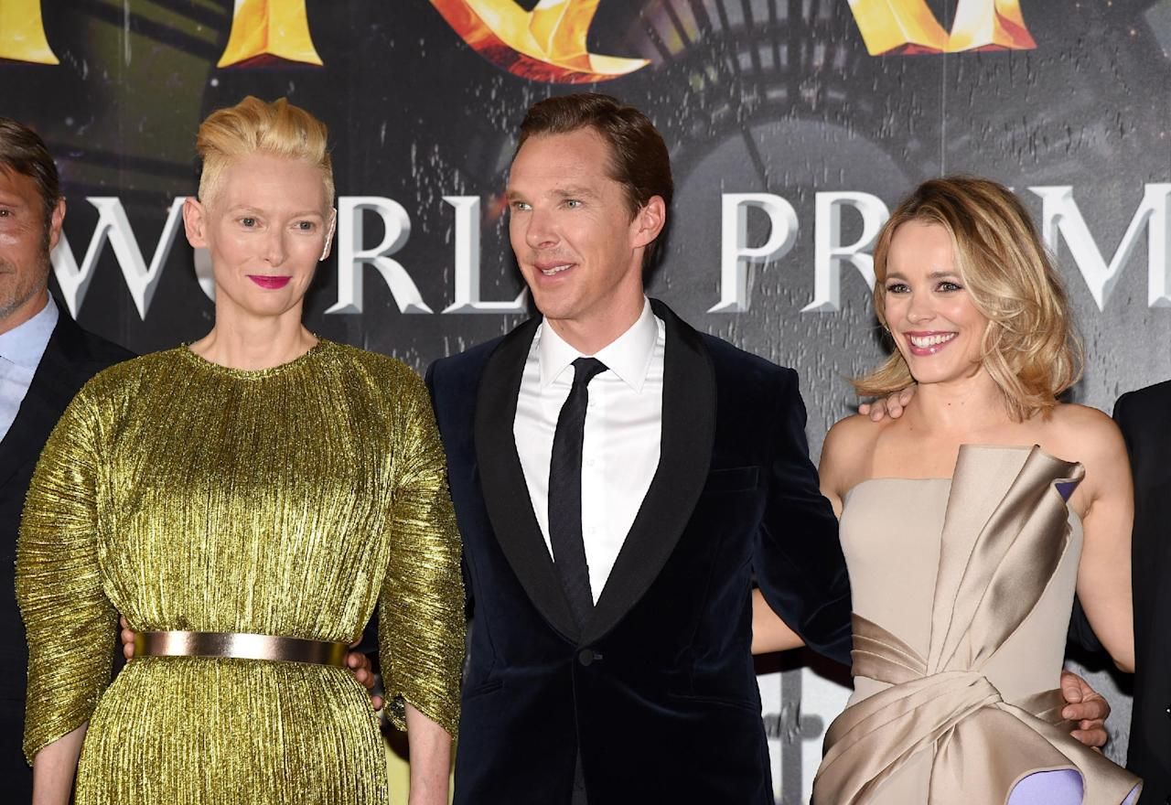 <p>The 'Doctor Strange' cast members at the premiere in Hollywood on Oct. 20. (Photo: Kevin Winter/Getty Images) </p>