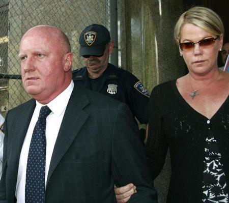 Former chief executive of Tyco International Dennis Kozlowski and wife Karen leave New York State ...