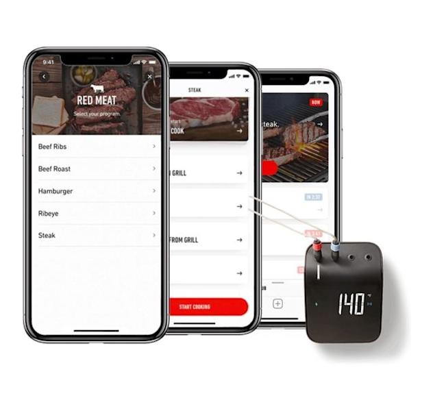 Weber's Connect Smart Grilling Hub is a small device that helps with almost everything involved in the grilling process