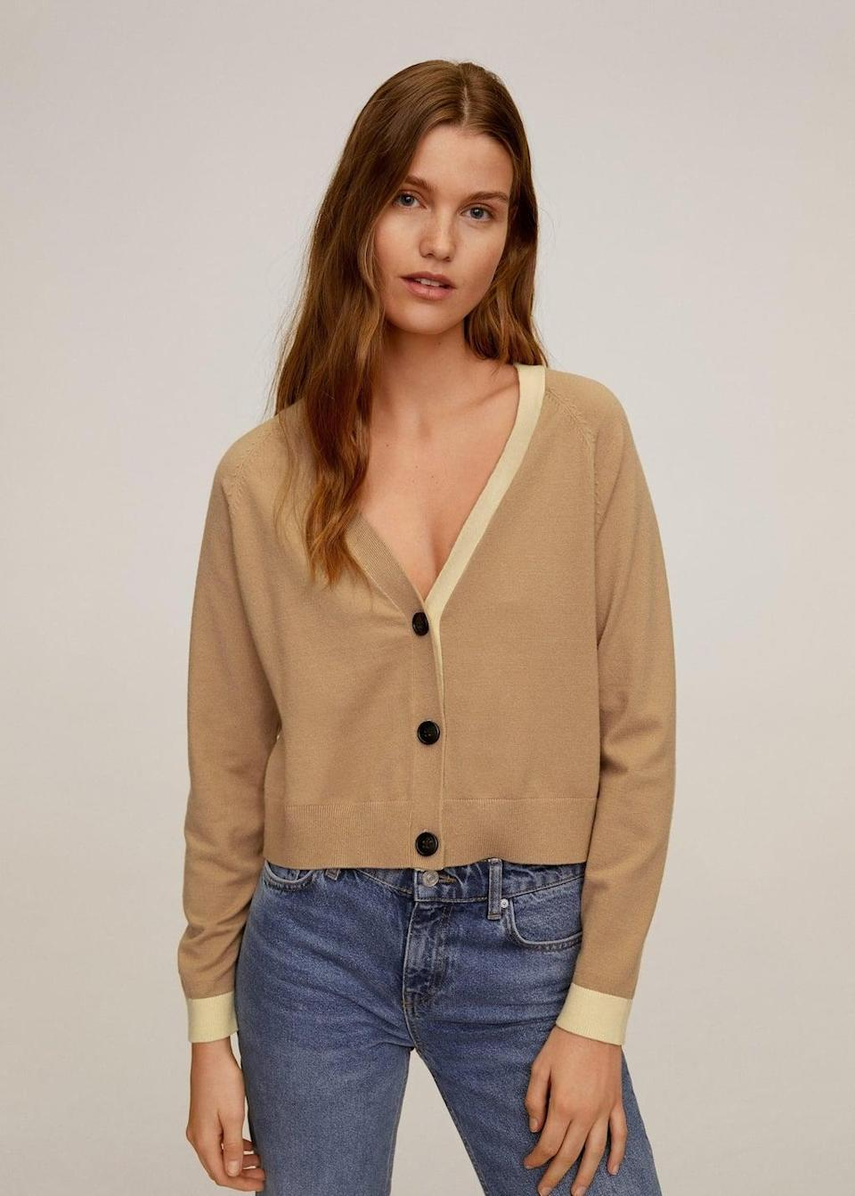 <p>This <span>Buttoned short cardigan</span> ($40) is a fresh and modern iteration of a classic style.</p>
