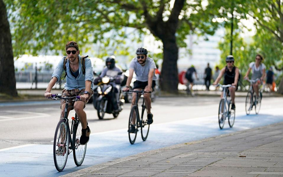 The Government has pledged £2 billion for cycle lanes