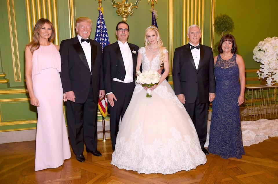 Louise Linton Steven Mnuchin Donald Trump Kevin Mazur Getty