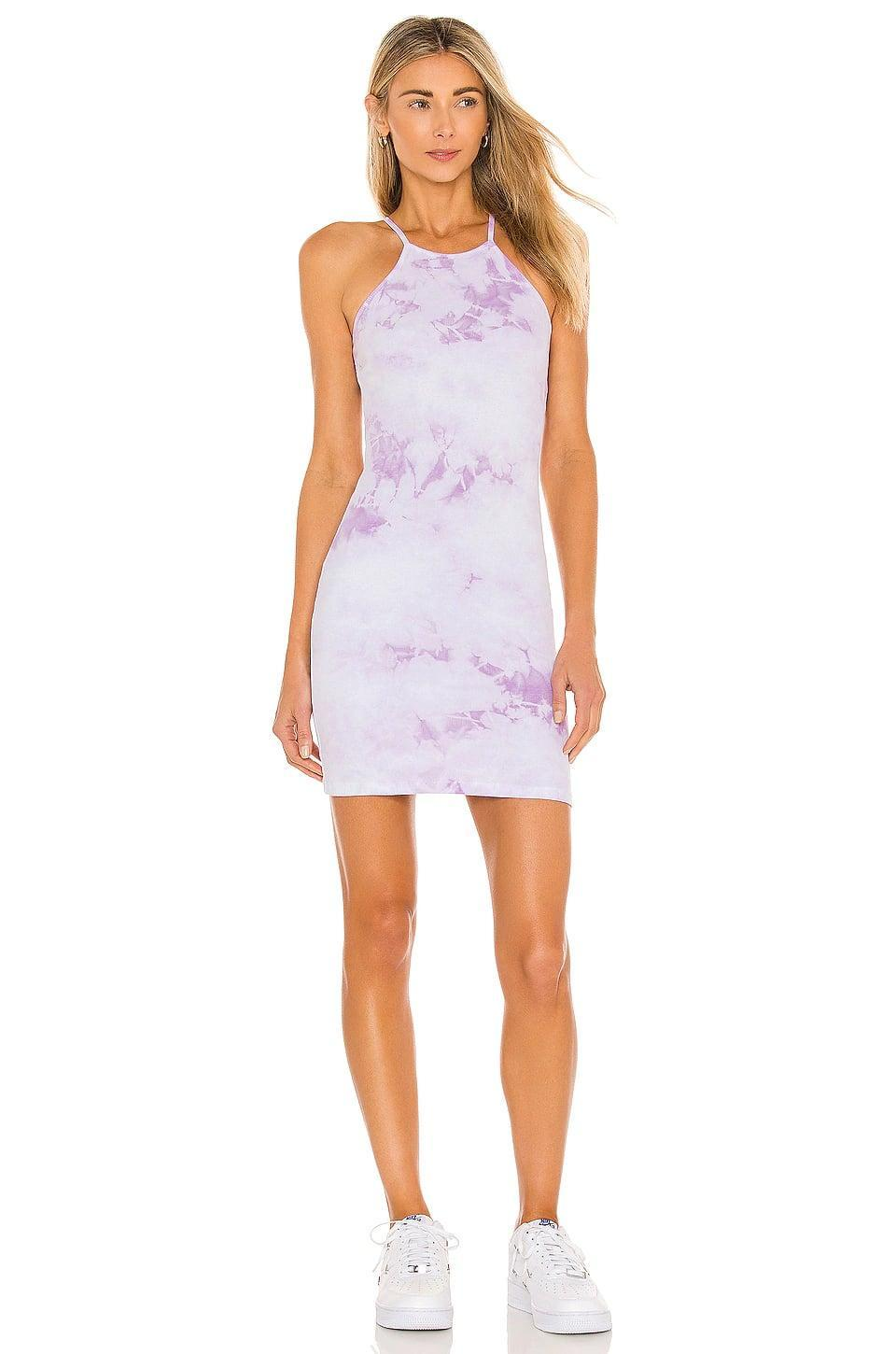 <p>Tie-dye is still a thing, this <span>Frankies Bikinis X Revolve Christine Ribbed Mini Dress</span> ($65, originally $135) proves it. It works as a staple dress and a beach coverup too!</p>