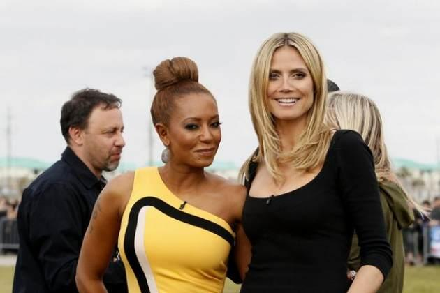 Mel B and Heidi Klum get ready to judge 'America's Got Talent,' New Orleans, March 4, 2013 -- NBC