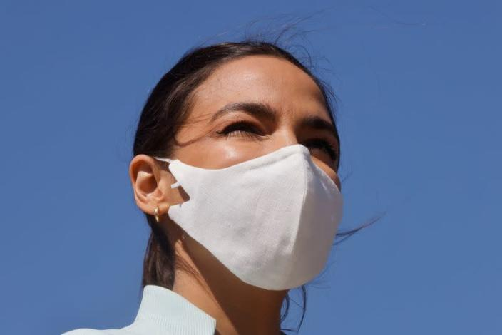 """Democratic lawmakers relaunch """"Green New Deal"""" resolution on Capitol Hill in Washington"""