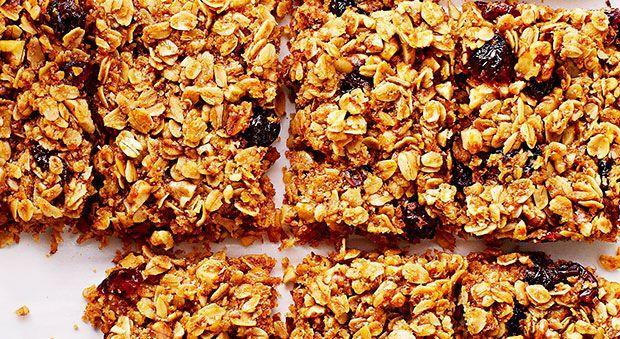 """<p>Take these DIY granola bars on your next hike or camping trip. </p><p><strong><a href=""""https://www.countryliving.com/food-drinks/recipes/a34631/grab-go-cranberry-granola-bars-recipe-ghk1114/"""" rel=""""nofollow noopener"""" target=""""_blank"""" data-ylk=""""slk:Get the recipe"""" class=""""link rapid-noclick-resp"""">Get the recipe</a>.</strong></p>"""