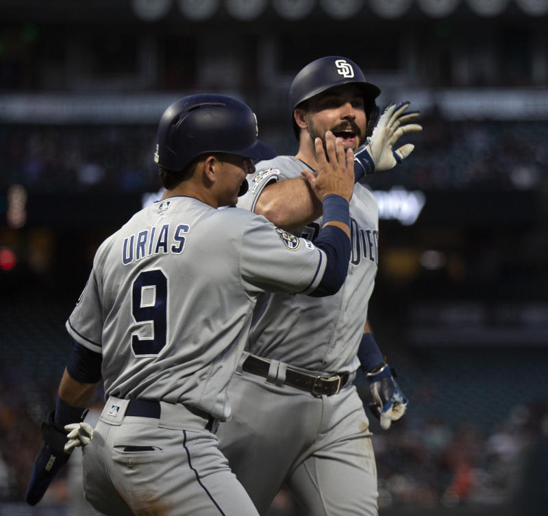 huge discount 6d56b 179ac Paddack rebounds, leads Padres to 5-3 win over Giants