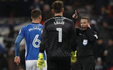 <span>Paul Tierney reverses his decision after VAR</span> <span>Credit: AFP </span>