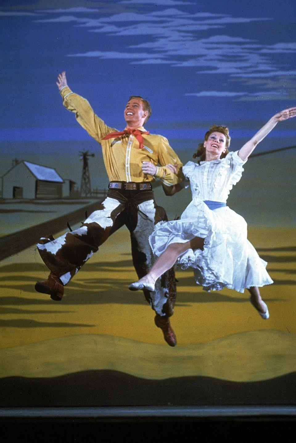 """<p>Spurred by World War II productivity, the Great Depression ended this year. Rogers and Hammerstein's musical <em>Oklahoma!</em> opened on Broadway. Frank Sinatra went solo and released the single """"Close to You."""" And parents across the country continued to dub many of their babies James, Robert, John, Mary, Barbara, and Patricia.</p>"""