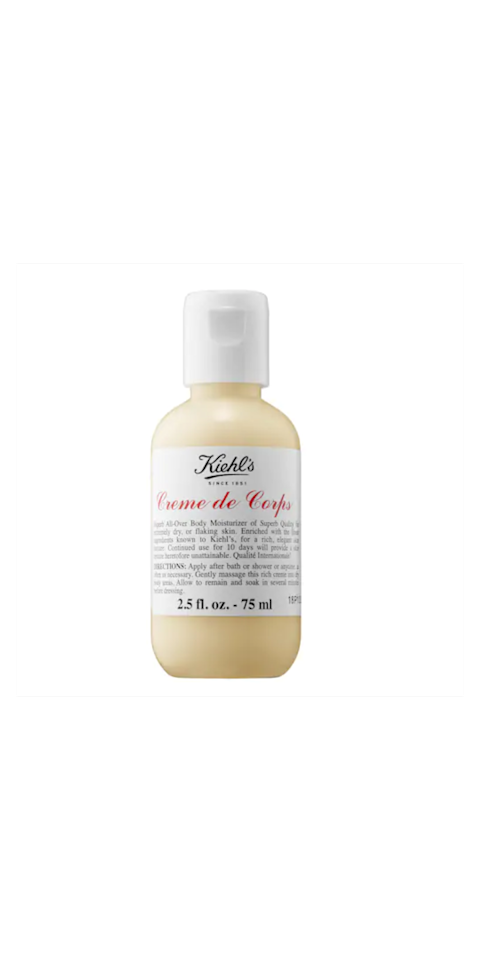 """<p>Keep everyone's skin in your family happy this winter by stuffing their stockings with Kiehl's Creme de Corps body moisturizing cream. The brand, beloved by both men and women, offers a mini-sized product, making it a great stocking stuffer choice for just about anyone.</p> <p><strong>To buy</strong>: $11; <a href=""""https://click.linksynergy.com/deeplink?id=93xLBvPhAeE&mid=2417&murl=https%3A%2F%2Fwww.sephora.com%2Fproduct%2Fcreme-de-corps-P421999%3Ficid2%3Dkiehls_bestsellers_productcarousel_ufe%3Ap421999%3Aproduct%26skuId%3D1989896%26om_mmc%3Daff-linkshare-redirect-93xLBvPhAeE%26c3ch%3DLinkshare%26c3nid%3D93xLBvPhAeE%26affid%3D93xLBvPhAeE-opB8qwt0ryotRcUKoO91zw%26ranEAID%3D93xLBvPhAeE%26ranMID%3D2417%26ranSiteID%3D93xLBvPhAeE-opB8qwt0ryotRcUKoO91zw%26ranLinkID%3D10-1%26browserdefault%3Dtrue&u1=RS%2C25Creative%252CInexpensiveStockingStuffers%2Ccfisher225%2CGIF%2CIMA%2C629801%2C201812%2CI,GIFTGUIDE"""" target=""""_blank"""">sephora.com</a>.</p>"""