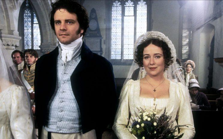 The not real Mr Darcy… looked a lot like Colin Firth – Credit: BBC