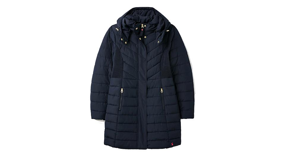 Dartwell Padded Longline Coat with Hood