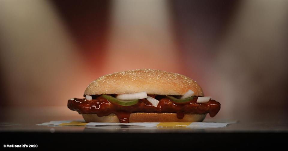 McDonald's McRib returns nationwide Dec. 2.