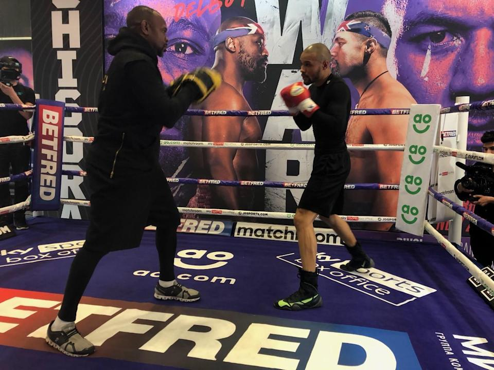 Chris Eubank Jr, right, has been under the tutelage of Roy Jones Jr, left for the last year (PA)