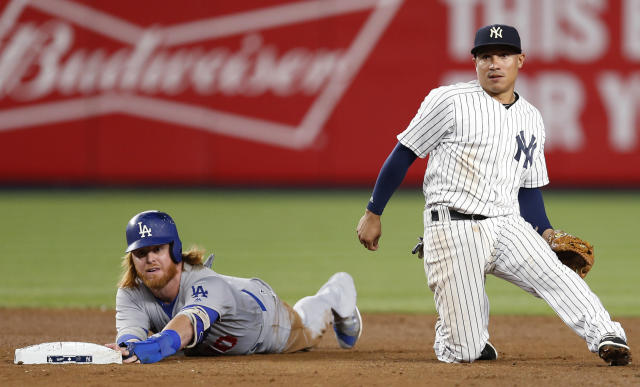 Even in a 60-game season, there's plenty to like about the Dodgers and Yankees. (AP Photo/Kathy Willens)