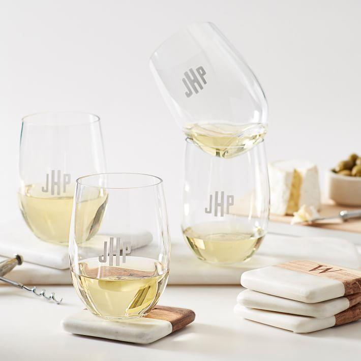 """<h2>Mark & Graham Acrylic Monogrammed Stemless Wine Glasses</h2><br>Not only can she sip her favorite vintage from a personalized goblet that can go right in the dishwasher when she's done, but she can also do so wherever she pleases without fear of shattering the thing. <br><br><em>Shop </em><a href=""""https://www.markandgraham.com/products/monogrammed-tritan-stemless-wine-glasses/"""" rel=""""nofollow noopener"""" target=""""_blank"""" data-ylk=""""slk:Mark & Graham"""" class=""""link rapid-noclick-resp""""><em><strong>Mark & Graham</strong></em></a><br><br><strong>Mark and Graham</strong> Acrylic Stemless Wine Glasses (Set of 4), $, available at <a href=""""https://go.skimresources.com/?id=30283X879131&url=https%3A%2F%2Fwww.markandgraham.com%2Fproducts%2Fmonogrammed-tritan-stemless-wine-glasses%2F"""" rel=""""nofollow noopener"""" target=""""_blank"""" data-ylk=""""slk:Mark and Graham"""" class=""""link rapid-noclick-resp"""">Mark and Graham</a>"""