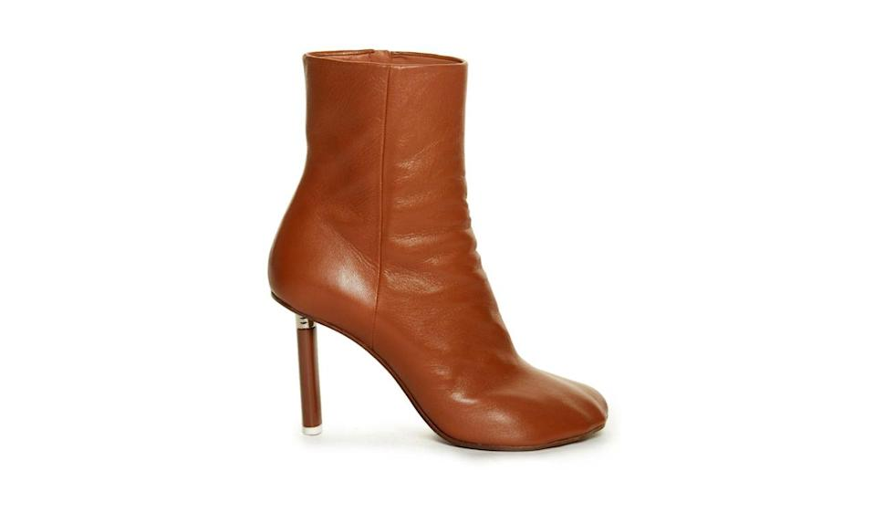 """<p>Vetements toe-details leather ankle boots, $1351, <a href=""""http://www.matchesfashion.com/us/products/Vetements-Toe-detail-leather-ankle-boots-1046797"""" rel=""""nofollow noopener"""" target=""""_blank"""" data-ylk=""""slk:Matches Fashion"""" class=""""link rapid-noclick-resp"""">Matches Fashion</a></p>"""