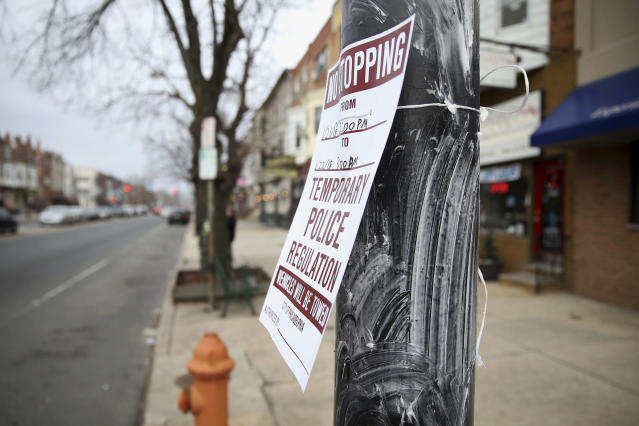 Poles throughout Philadelphia were coated in Crisco ahead of the NFC championship game. (AP)
