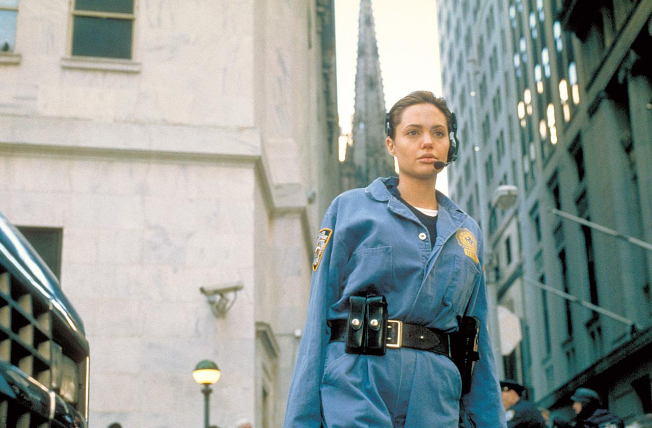 Angelina Jolie as Amelia Donaghy in The Bone Collector, 1999. Photo courtesy of Universal and Everett Collection.