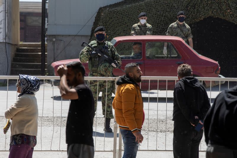 Serbia imposes greater control of migrant camps deploys soldiers in Sid