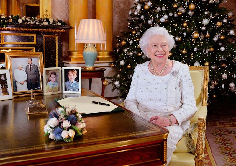 Queen Elizabeth giving her Christmas address in 2017. | John Stillwell/POOL/AFP/Getty