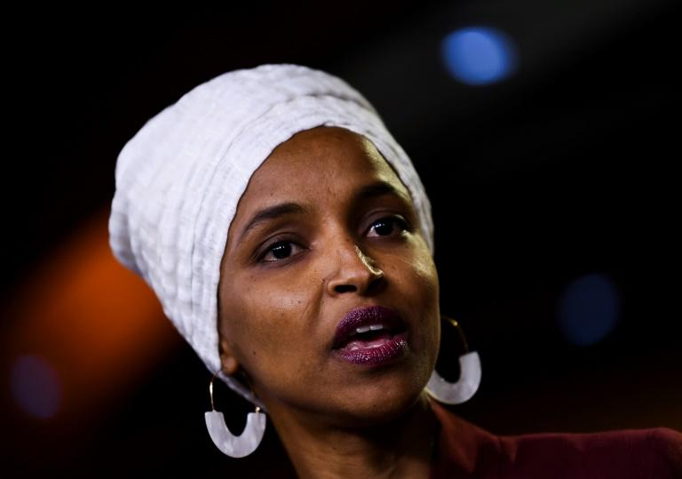Israel barred US lawmaker Ilhan Omar from entering the country (AFP Photo/Brendan Smialowski)