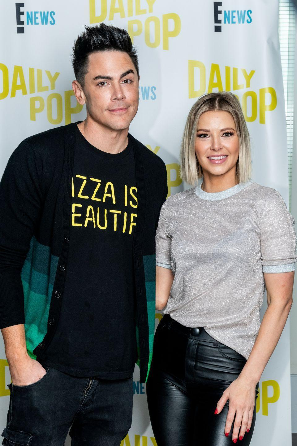 """<p>Workplace romances aren't exactly frowned upon at SUR<em>—</em>in fact, it's the norm on <em><em>Vanderpump Rules</em></em>. So when Ariana Madix joined the restaurant staff in season 2, it was only natural that the two bartenders would strike up a romance. The couple have been <a href=""""https://www.bravotv.com/the-daily-dish/tom-sandoval-ariana-madix-together-5-years-anniversary"""" rel=""""nofollow noopener"""" target=""""_blank"""" data-ylk=""""slk:going strong for almost six years"""" class=""""link rapid-noclick-resp"""">going strong for almost six years</a>—and many seasons of dramatic reality TV. </p>"""