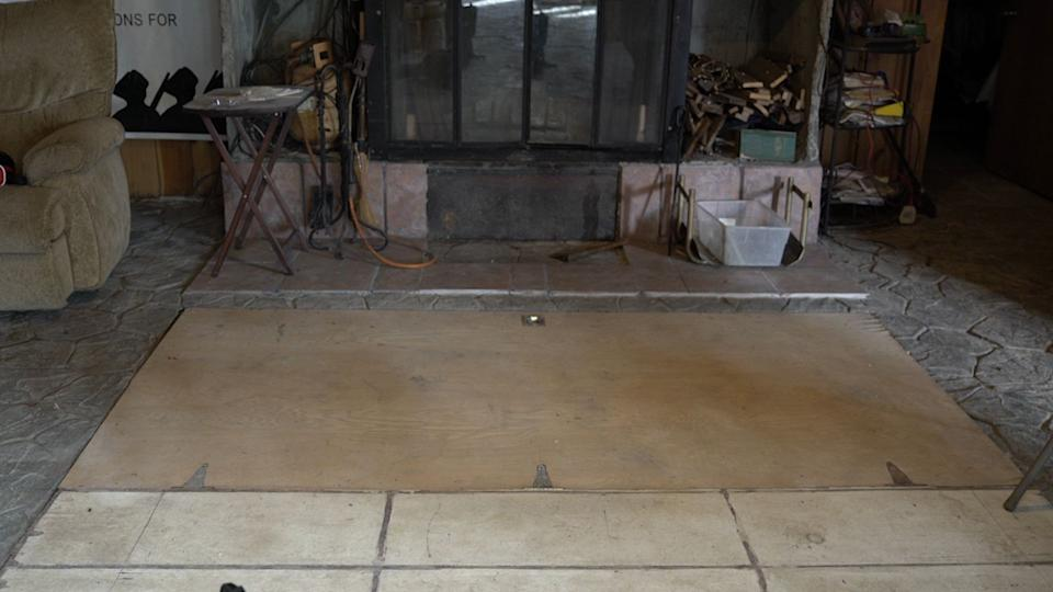 A space beneath the floor of the bunker that Gray did not want to discuss (Source: Yahoo Finance)