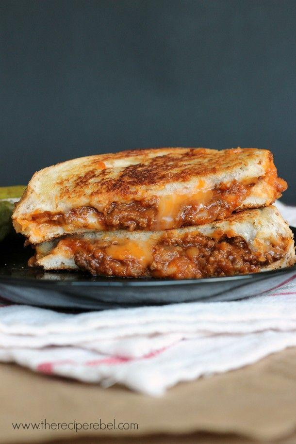 """<p>We will gladly stain our faces (and probably clothes) for a bite of this gooey grilled cheese.</p><p>Get the recipe from <a href=""""http://www.thereciperebel.com/sloppy-joe-grilled-cheese/"""" rel=""""nofollow noopener"""" target=""""_blank"""" data-ylk=""""slk:The Recipe Rebel"""" class=""""link rapid-noclick-resp"""">The Recipe Rebel</a>.</p>"""