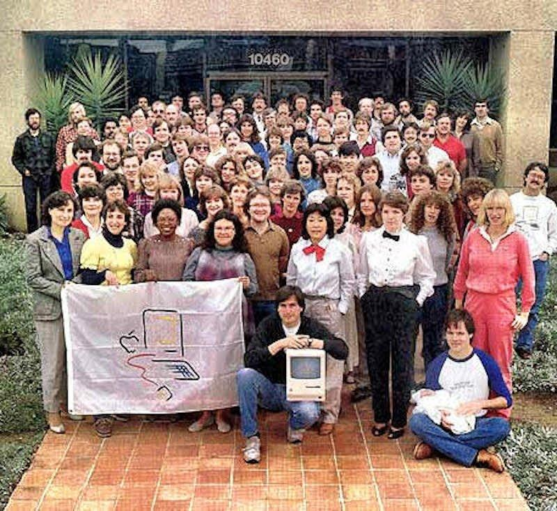 Apple employees with the Mac in the early 1980s.