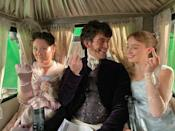 """<p>""""Ah, the old Regency era tradition of giving the finger,"""" Netflix wrote while sharing the picture.</p><p><a href=""""https://www.instagram.com/p/CJlQGrmgnq3/?utm_source=ig_embed"""" rel=""""nofollow noopener"""" target=""""_blank"""" data-ylk=""""slk:See the original post on Instagram"""" class=""""link rapid-noclick-resp"""">See the original post on Instagram</a></p>"""