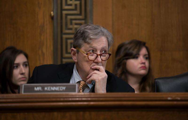 Sen. John Kennedy was not amused by Steven Menashi's refusal to answer his questions. (Photo: ASSOCIATED PRESS)