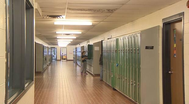 East Wiltshire Intermediate School in Cornwall does have a mechanical ventilation system, but 10 Island schools do not.   (Randy McAndrew/CBC - image credit)