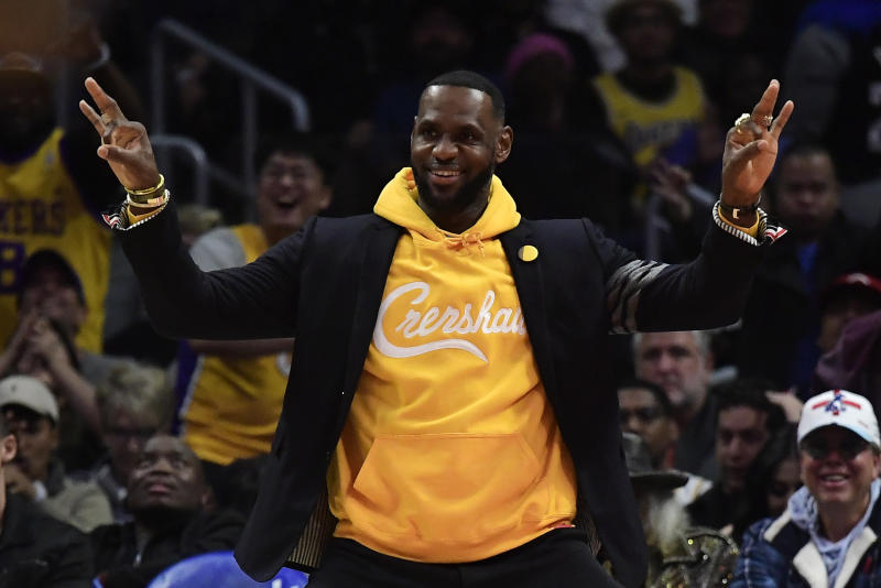 LeBron James' files to trademark 'taco Tueday'. (AP Photo/Mark J. Terrill)