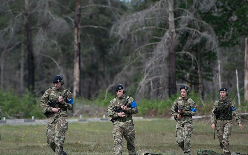 Armed forces get back to training in a socially distanced way. - Eddie Mulholland