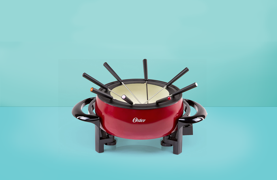 """<p><a href=""""https://www.goodhousekeeping.com/food-recipes/g26899440/50s-60s-nostalgia-foods/?slide=2"""" rel=""""nofollow noopener"""" target=""""_blank"""" data-ylk=""""slk:Fondue has been around for a long time,"""" class=""""link rapid-noclick-resp"""">Fondue has been around for a long time, </a>and we understand why. It's hard to go wrong with melted cheese and chocolate, especially when entertaining guests or kids. In its simplest form, a fondue pot is a vessel that sits atop a direct heat source — either a heating element or an open flame. It's designed to stay warm on its own so it can be used on a tabletop or buffet. </p><p>The most common uses are for melting cheese or chocolate for dipping, but it's also used for heating broth or oil for cooking meat. While you can certainly make fondue without a fondue maker, these warmers take away the fuss of heating to the right temp without burning and maintaining the perfect level of melty-ness. </p><p>In <a href=""""https://www.goodhousekeeping.com/institute/"""" rel=""""nofollow noopener"""" target=""""_blank"""" data-ylk=""""slk:the Good Housekeeping Institute,"""" class=""""link rapid-noclick-resp"""">the Good Housekeeping Institute,</a> our experts test thousands of products each year from <a href=""""https://www.goodhousekeeping.com/cooking-tools/best-kitchen-knives/g646/best-kitchen-cutlery/"""" rel=""""nofollow noopener"""" target=""""_blank"""" data-ylk=""""slk:knives"""" class=""""link rapid-noclick-resp"""">knives</a> to <a href=""""https://www.goodhousekeeping.com/cooking-tools/g28563931/cool-kitchen-gadgets/"""" rel=""""nofollow noopener"""" target=""""_blank"""" data-ylk=""""slk:the coolest kitchen gadgets"""" class=""""link rapid-noclick-resp"""">the coolest kitchen gadgets</a>. When we asked the Kitchen Appliance Lab experts what to look for when buying a fondue maker, Senior Testing Editor Nicole Papantoniou said the key factors to consider are heating style (electric or manual), material (stainless steel, ceramic, enameled cast iron), and size (individual and up to three quarts). Below are our top recommended fond"""