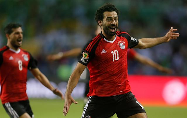 FILE PHOTO: Football Soccer - African Cup of Nations - Semi Finals - Burkina Faso v Egypt- Stade de l'Amitie - Libreville, Gabon - 1/2/17 Egypt's Mohamed Salah celebrates after the game Reuters / Amr Abdallah Dalsh Livepic /File Photo