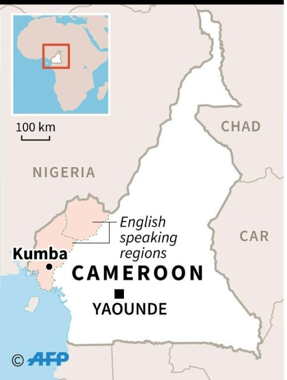 The Cameroonian government said 13 children had also been wounded during a raid on a bilingual school in the town of Kumba -- seven of them seriously