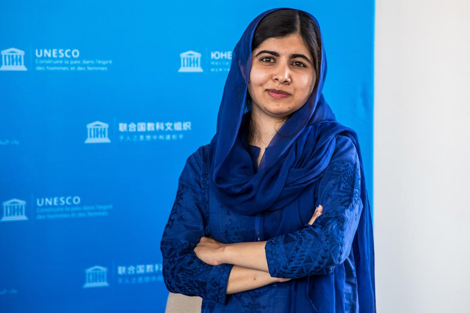 Nobel Peace Prize laureate Malala Yousafzai poses for photographs during the Education and Development G7 Ministers Summit in Paris, France, July 5, 2019. Christophe Petit Tesson/Pool via REUTERS