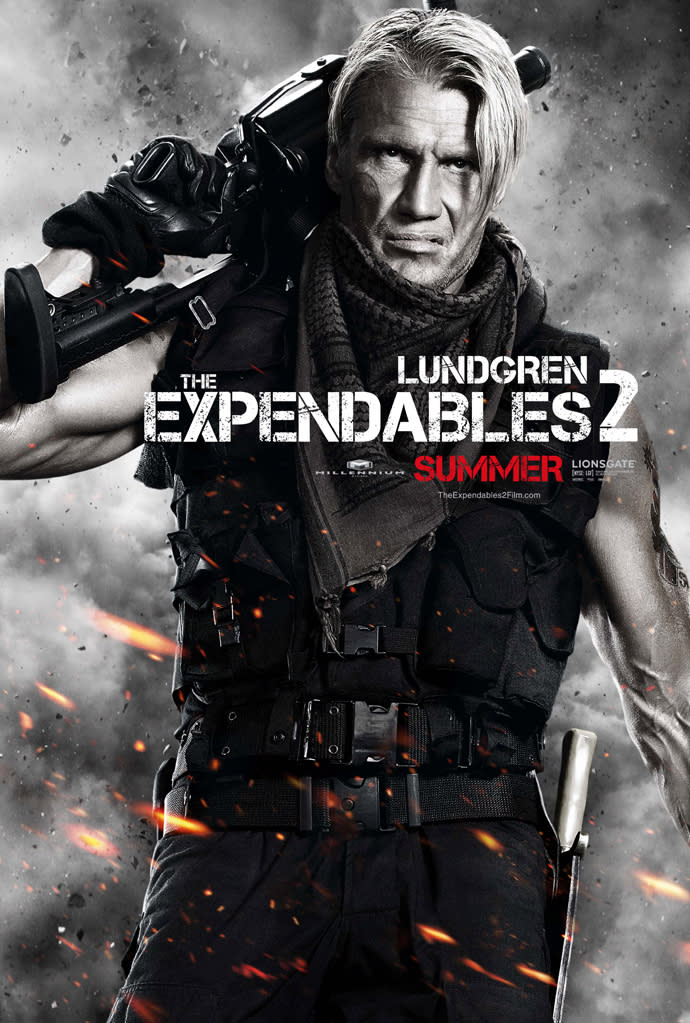 """Dolph Lundgren in Lionsgate's """"The Expendables 2"""" - 2012"""