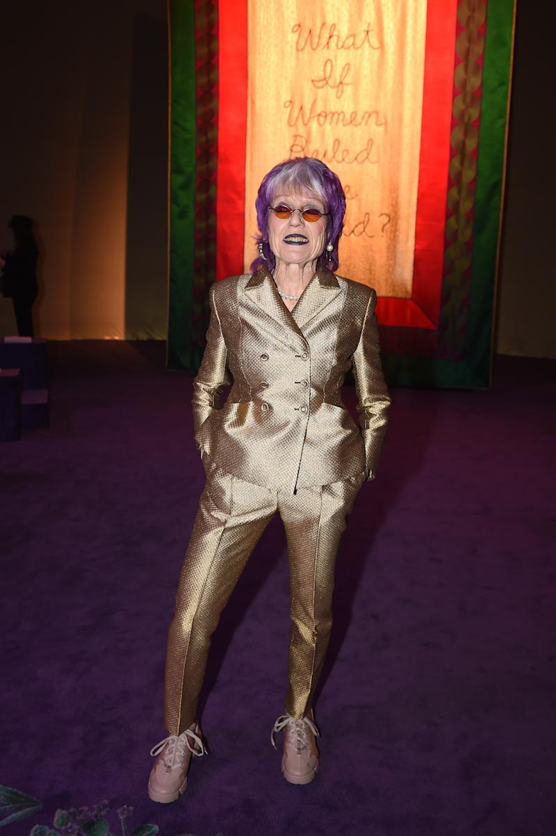 PARIS, FRANCE - JANUARY 20: Judy Chicago attends the Dior Haute Couture Spring/Summer 2020 show as part of Paris Fashion Week on January 20, 2020 in Paris, France. (Photo by Anthony Ghnassia/Getty Images)